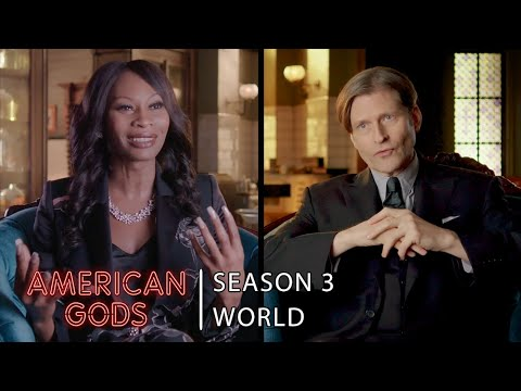 World Interview with Crispin Glover and Dominique Jackson | American Gods - Season 3