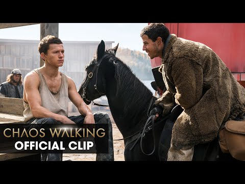 Chaos Walking (2021 Movie) Official Clip 'Very Clever Use of Your Noise' – Daisy Ridley, Tom Holland