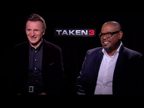 """Liam Neeson and Forest Whitaker Talk """"Taken 3"""", the Liam Neeson Kill Map, and More"""