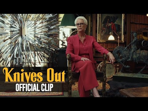 """Knives Out (2019 Movie) Official Clip """"Observer of the Truth"""" – Daniel Craig, Jamie Lee Curtis"""