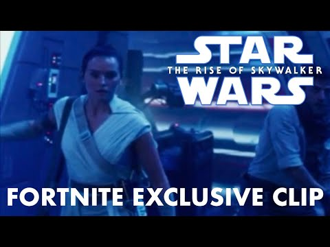 Star Wars The Rise of Skywalker Fortnite Exclusive Clip