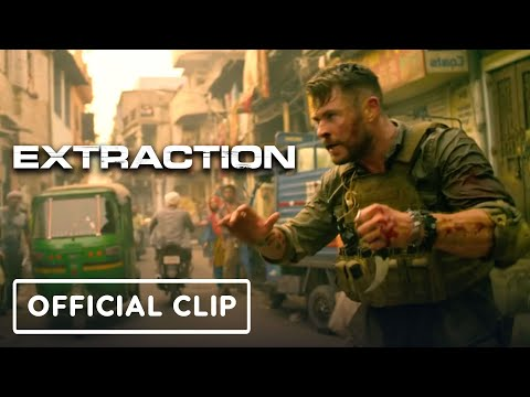 """Netflix's Extraction - Official """"Knife Fight"""" Clip (Chris Hemsworth, Russo Brothers)"""
