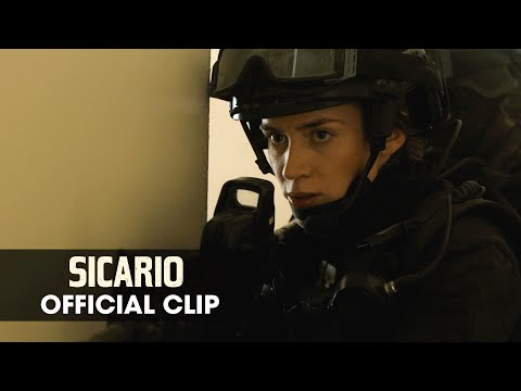 "Sicario (2015 Movie - Emily Blunt) Official Clip – ""Raid"""