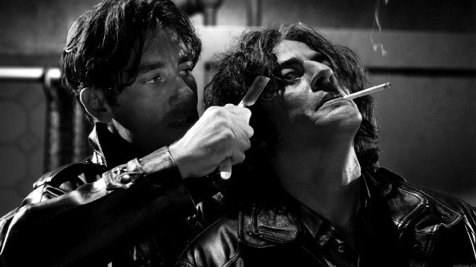 Clive and Benicio in Sin City, The Big Fat Kill